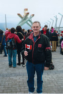 At the Olympic Flame-Vancouver 2010