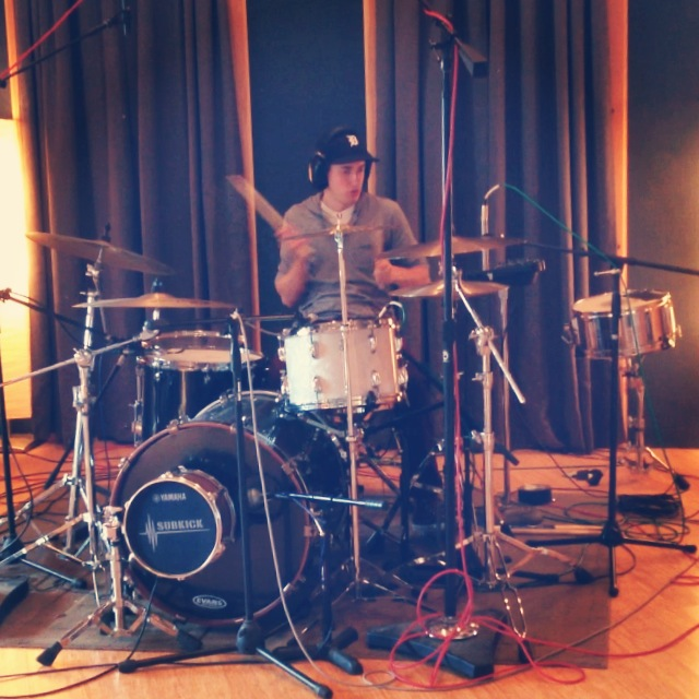 Recording at Raw Studios, NY