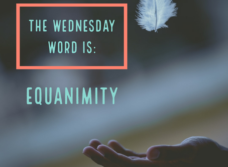 The Wednesday Word is: EQUANIMITY