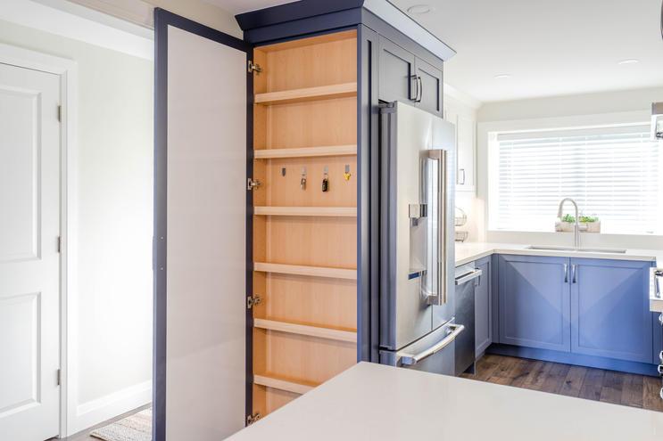 custom pantry with key storage