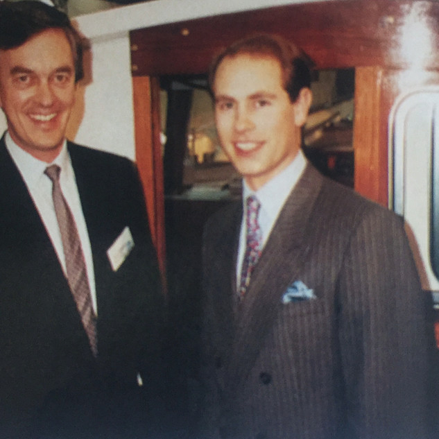 Prince Edward on the Northshore stand at 1992 Dusseldorf Boat Show