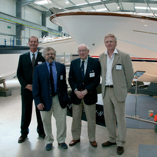 Supermarine launch with Ken Freivokh, Alan Burnard and Steve Curtis