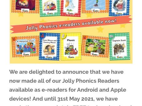Jolly Phonics e-Readers 無償提供のお知らせ