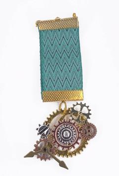 Steampunk medal with custom cog arrangement