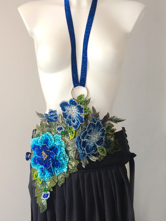 Skirt half of burlesque costume with halter strap