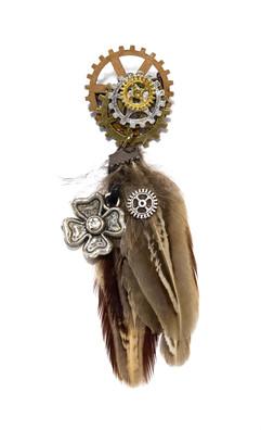 Steampunk cog hanger medal