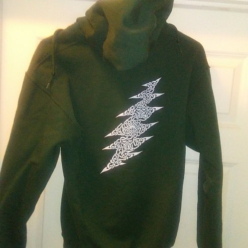 Grateful Dead Hoodie - (Clearance) Celtic Bear-Forest Green by DTS