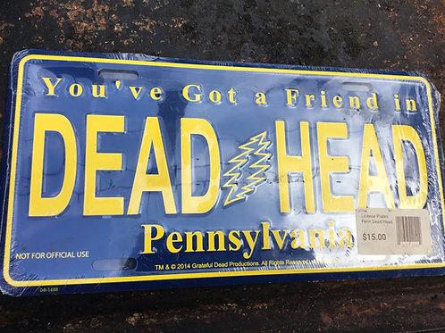 Grateful Dead-Pennsylvania Deadhead - Novelty License Plate