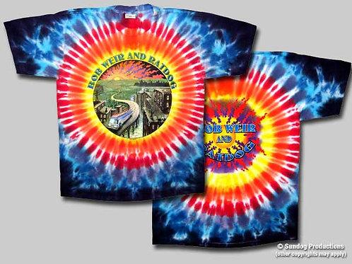Ratdog T-Shirt-Bob Weir - Ratdog-Road to City-Tie Dye-by Not Fade Away