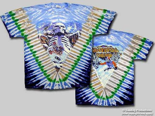 Grateful Dead T-Shirt-Heliskier-Tie-Dye-by Not Fade Away