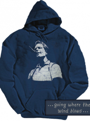 Grateful Dead Hoodie - Bob Weir - Navy Blue- by Dye the Sky