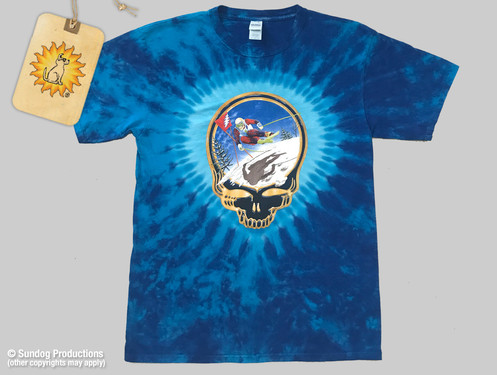 39cd235adbc5 Grateful Dead T-Shirt - Fire on the Mountain - Blue Dye - by Not Fade Away