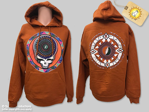 Grateful Dead Hoodie-Steal Your Feathers-(1 LEFT LARGE)Orange-by Not Fade Away