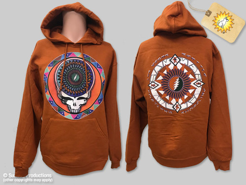 c93af15fd11 Grateful Dead Hoodie-Steal Your Feathers-Orange-by Not Fade Away