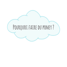 Pourquoi faire du poney ?