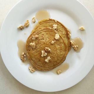 Pumpkin Walnut Protein Waffles