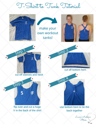 5 Athletic Clothing Care Tips & How to Make an Old Tee into a Tank!