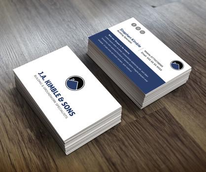 0254_J.A. Kimble_Business cards_Visual (