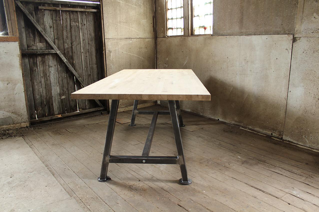 A Frame Solid Oak table top FrontRD.jpg