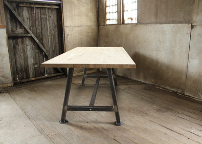A Frame Solid Oak table top FrontRD.jpg