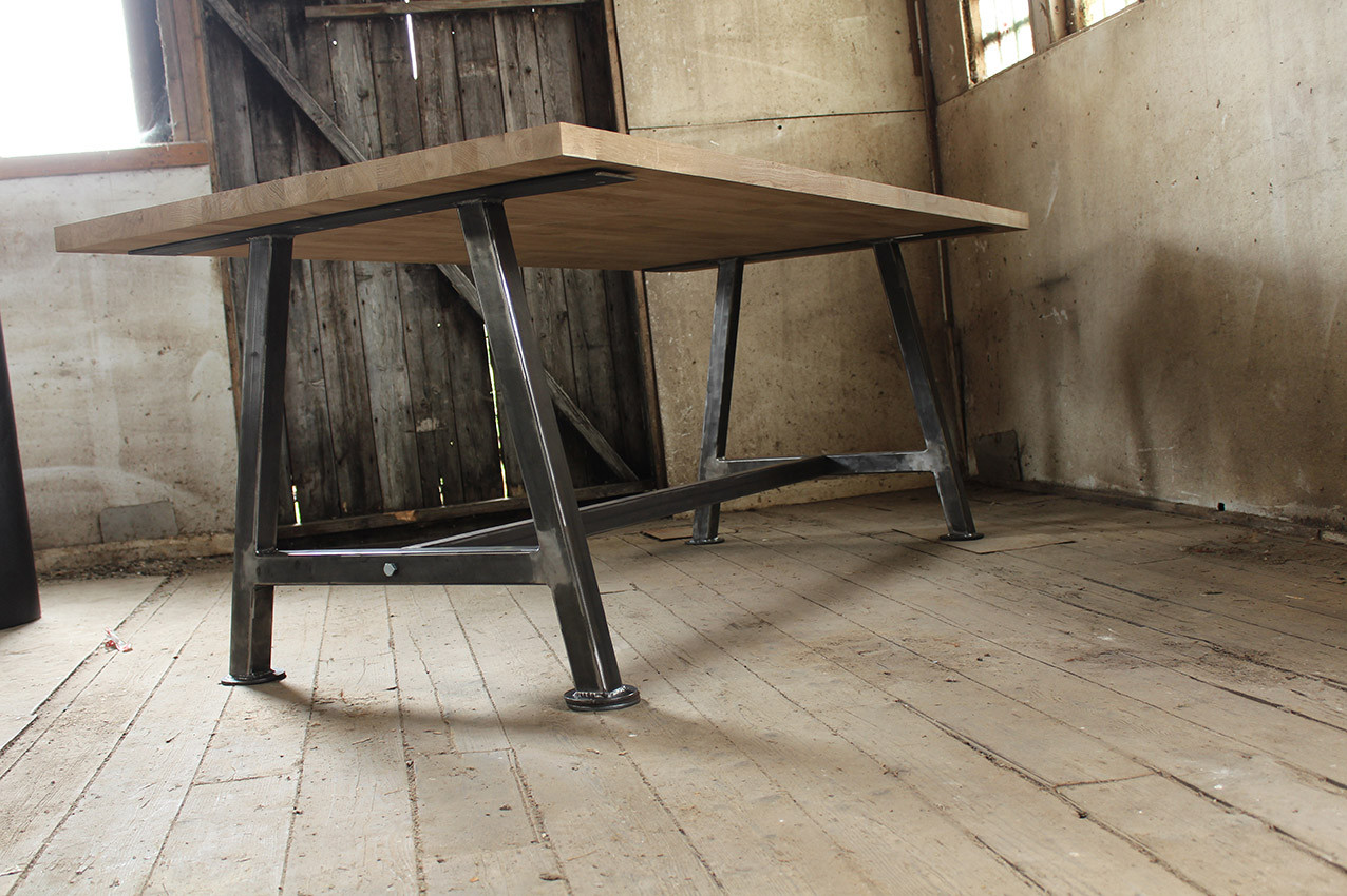 A Frame solid Oak table top UnderneathD.