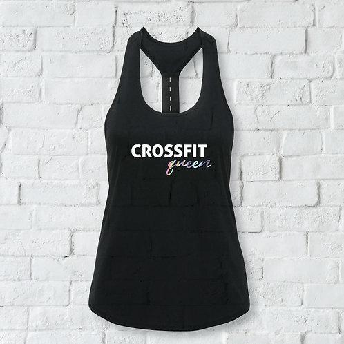 Crossfit Queen - Workout Sports Vest. Strap Back Vest.