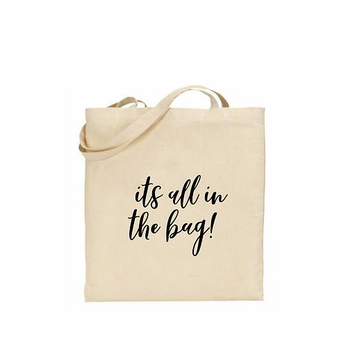 Personalised Natural Tote Bag