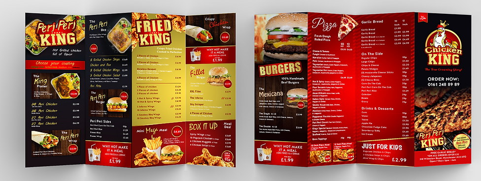 Chicken King Menu