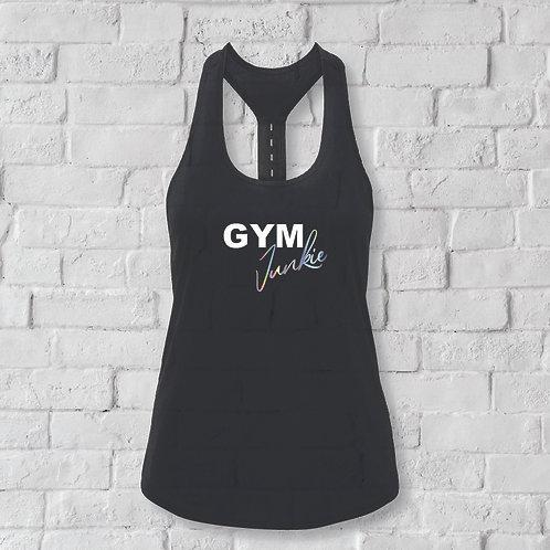 Gym Junkie - Workout Sports Vest. Strap Back Vest.
