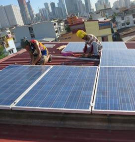 Supporting solar installations of GT solar panels in Hong Kong.