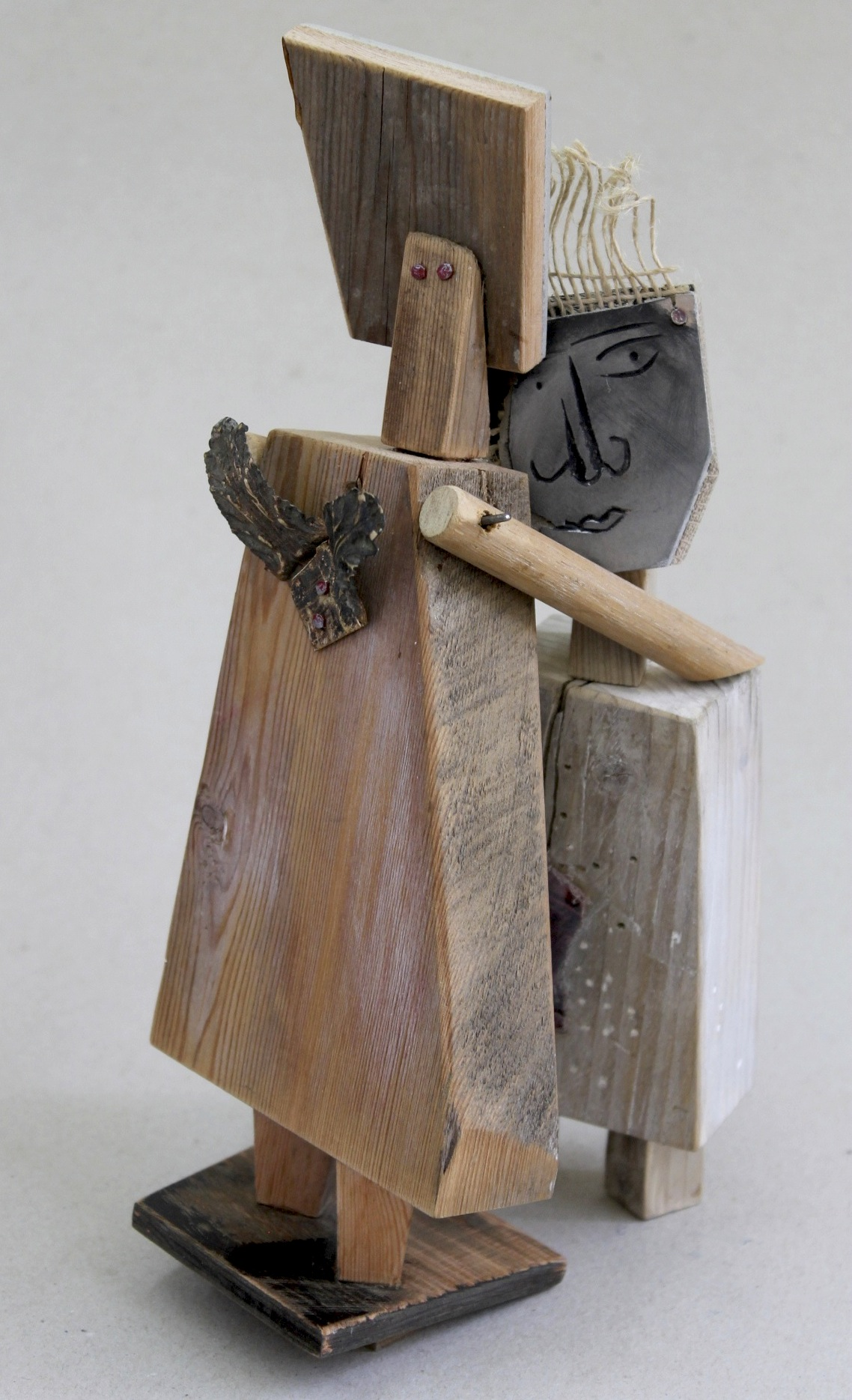 Foundlings: mixed media sculpture