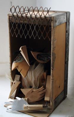 Shelter: mixed media sculpture