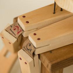 Refuge: wooden sculpture, detail