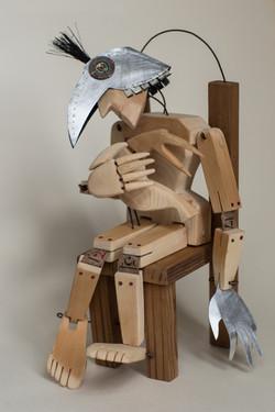 Refuge: wooden sculpture