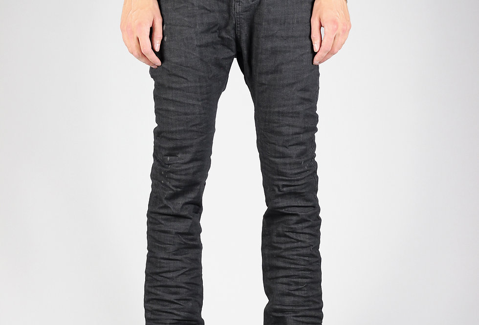 'ZAG' JEANS | HANDFOLDED - GREY COLD-DYED