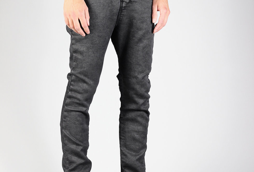 'ZAG' JEANS | IRREGULAR COATED KNIT-DENIM