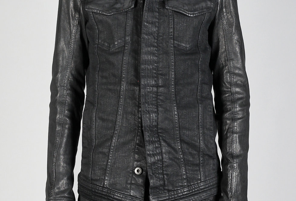 'CARL' JACKET | BLACK WAXED - LEATHER