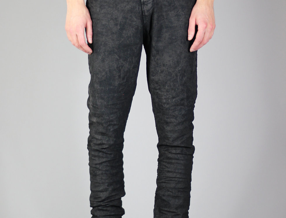 'X' JEANS | PIECE DYED BLACK \ IRREGULAR WAXED