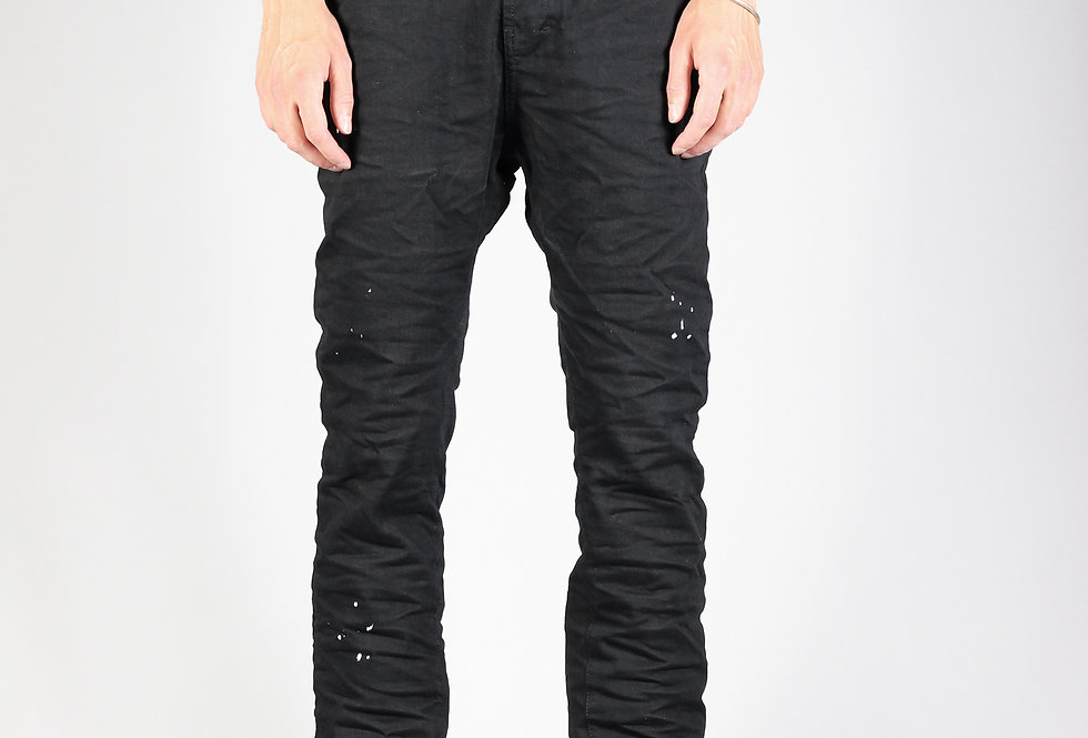 'ZAG' JEANS | BLACK HANDFOLDED - COLOUR-SPOTS