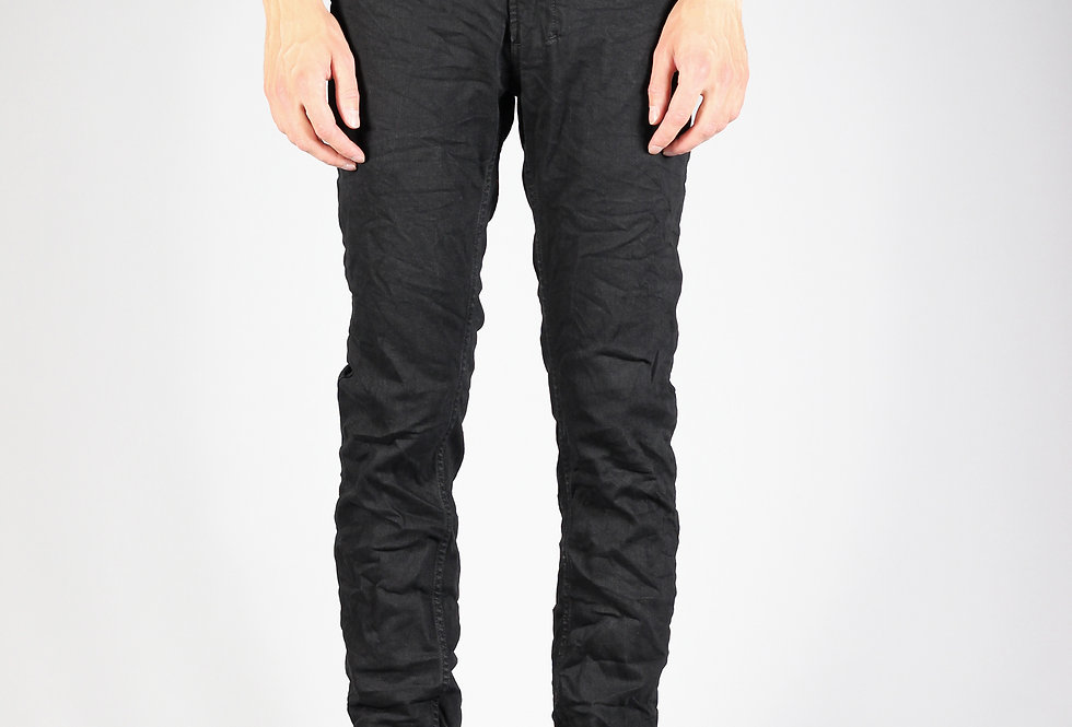 'SLIM-TAB' JEANS | BLACK - CRUSHED