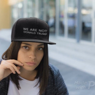 We Are Not Donald Trump snapback hat.mp4