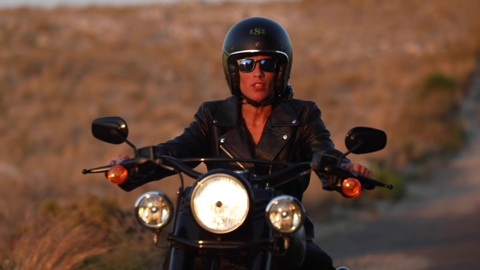 Viking Cycle Cruise Black Leather Motorcycle Jacket for Women