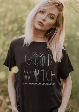 Good Witch Elevato boat neck loose fit w