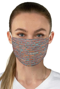 Brick Wall Red and Blue 2-Layer Mask