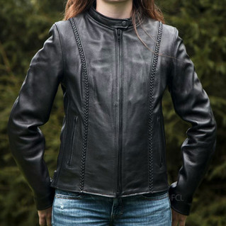 Fox Women's Braided Leather Jacket 1.JPG