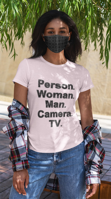 Person Woman Man Camera TV unisex t-shirt