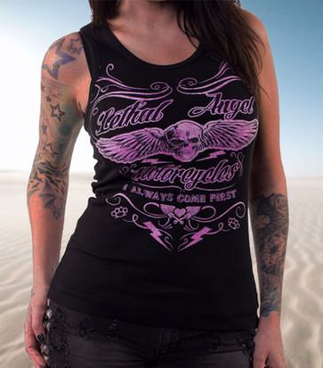 Lethal Angel I Always Come First Man Beater Tank