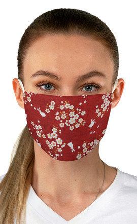 Daisies and Rabbits in Red Face Mask