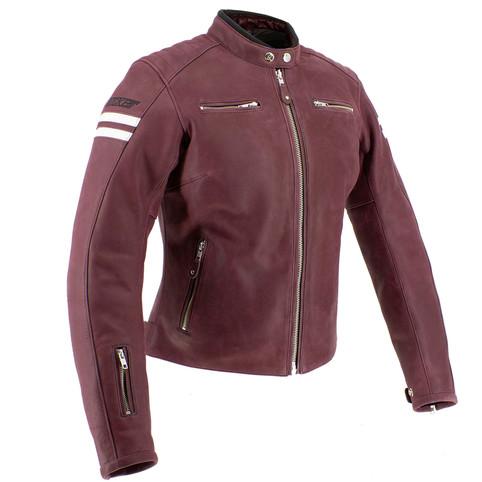 Joe Rocket Classic 92 Women's Leather Jacket in Burgundy