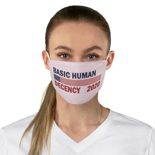 Basic Human Decency mask- pink